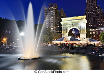 Washington Square Park - NEW YORK CITY - SEPTEMBER 12:...