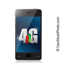 smartphone 4g connection. illustration design
