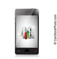mobile 4g connection. illustration design