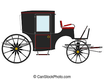 Carriage - Black retro carriage.