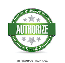 authorized seal stamp illustration design over a white...
