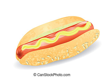hot dog isolated on the white background