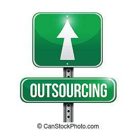 outsourcing road sign illustration design