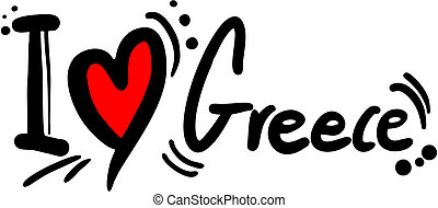 Love greece - Creative design of love greece