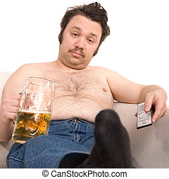 excesso de peso, homem