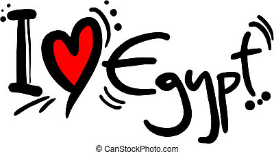 Love Egypt - Creative design of love egypt