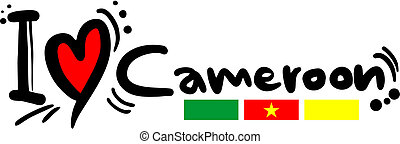 Love Cameroon - Creative design of love Cameroon