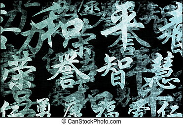 Chinese Writing Calligraphy Background - Chinese Writing...