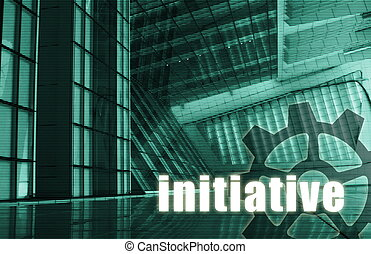 Initiative Futuristic as a Art Abstract Background