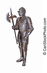 Isolated Full Body Vintage War Armour Illustration -...