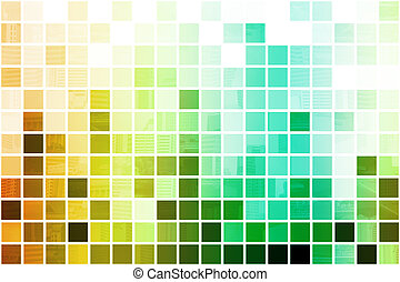 Colorful Simplistic and Minimalist Abstract Block Background