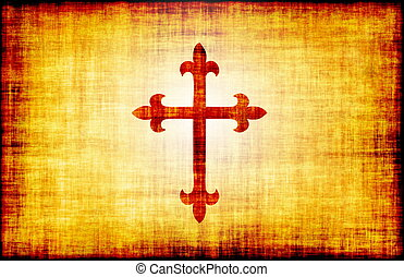 Christian Cross Bible Poster Design as Abstract