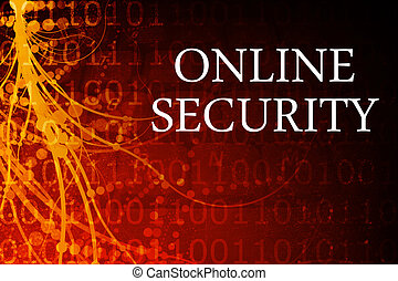 Online Security Abstract Background in Red and Black