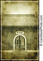 Vintage Old China Town - Vintage China Town Antique Entrance...