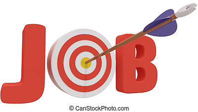 Search target find best business Job - Arrow hits job search...