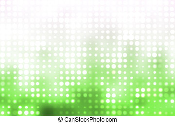 Green and White Glowing Futuristic Light Background - Green...