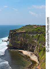 Cliffs above blue tropical sea on Nusa Dua, Bali, Indonesia