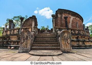 Structure unique to ancient Sri Lankan architecture -...