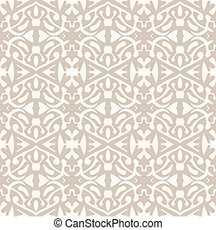 Simple elegant lace pattern in art deco style. - Simple...