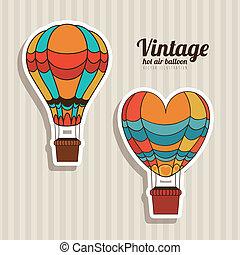 balloons design over vintage background vector illustration