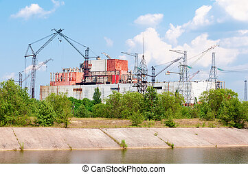 Chernobyl nuclear power station incompleted part - Chernobyl...
