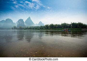 yangshuo landscape - beautiful lijiang river,guilin, China