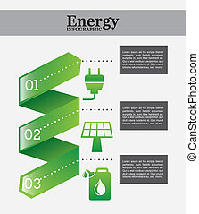 energy infographics over white background vector...