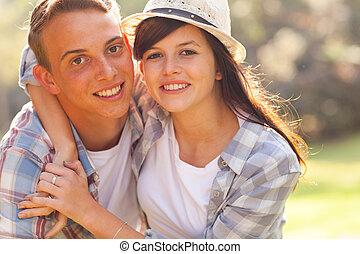 teenage couple first love