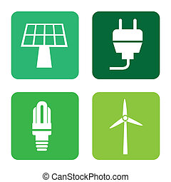 energy icons over white background vector,illustration
