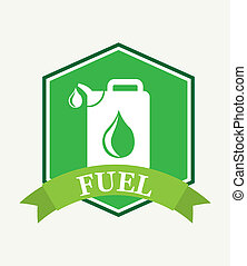 fuel label over white background vector illustration
