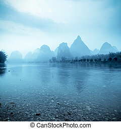 beautiful yangshuo landscape in guilin, China