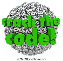 Crack the Code Number Sphere Breaking Password Security -...