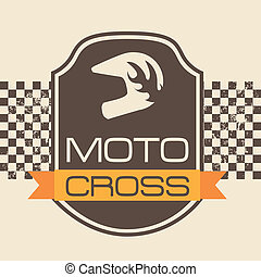 moto cross design over pink background vector illustration