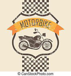 motorcycle icon - motorcycle design over pink background...