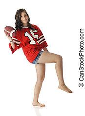 Teen Girl Football Tosser