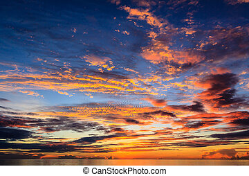Sunrise on the beach - Sunrise on the Lang Co beach, hue,...