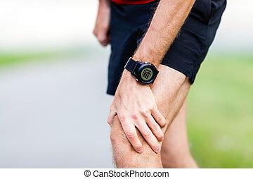 Running injury, knee pain - Runner leg and muscle pain...