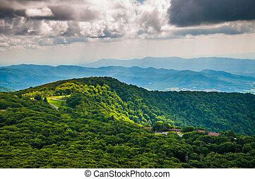 View of Skyland Resort and the Blue Ridge Mountains from...