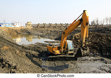 water conservancy dredging engineering field, north china