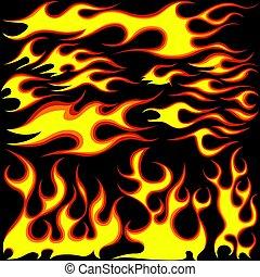 fiamme, simboli