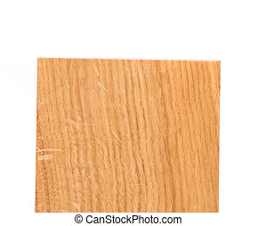 Top board of oak tree on a white background