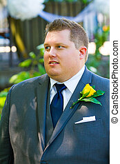 Handsome Groom Portraits - Portraits of a groom on his...