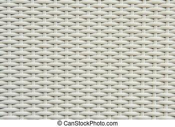 White wickerwork - A chair white white basket weave pattern