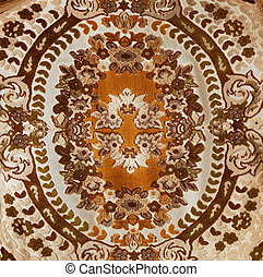 Carpet with pattern. Close up. Background. Texture.
