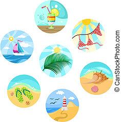 summer set - illustration of a summer set