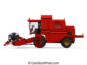 Combine Harvester Isolated - Combine Harvester isolated on...