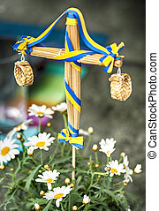 Midsummer pole - Image of a miniature midsummer's pole, for...
