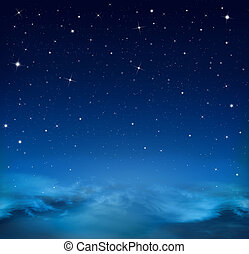 abstract blue background starry sky - starry sky