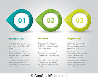 Pointer infographic background design with numbers and text