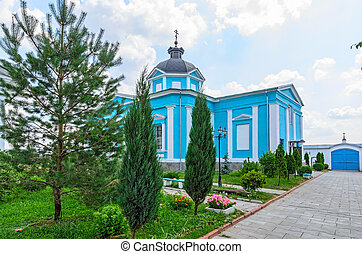 Bobrenev monastery founded in the XIV century, Russia. -...